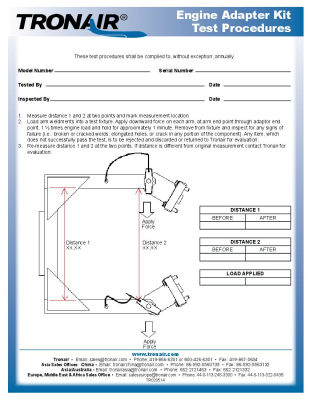 maintenance schedules tronair aircraft ground support equipment